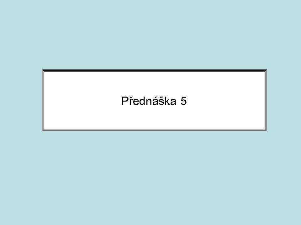 Přednáška 5