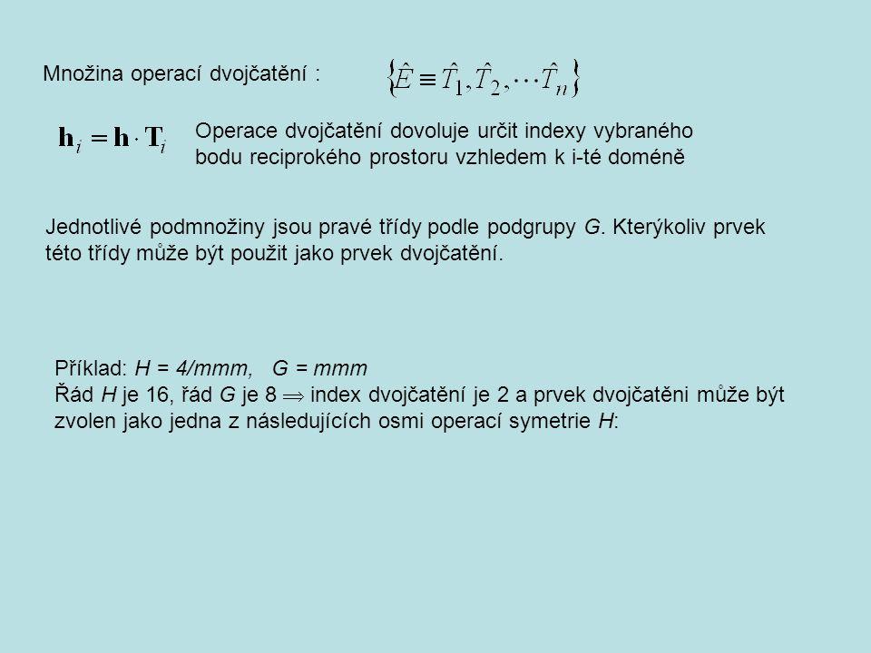 Jednotlivé podmnožiny jsou pravé třídy podle podgrupy G.