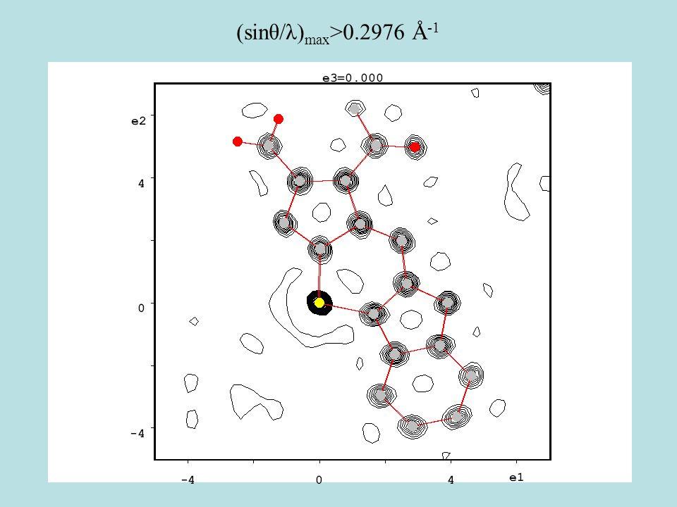 (sinθ/λ) max >0.2976 Å -1
