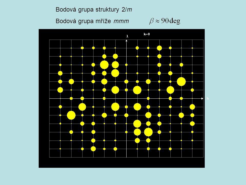 Bodová grupa struktury 2/m Bodová grupa mříže mmm