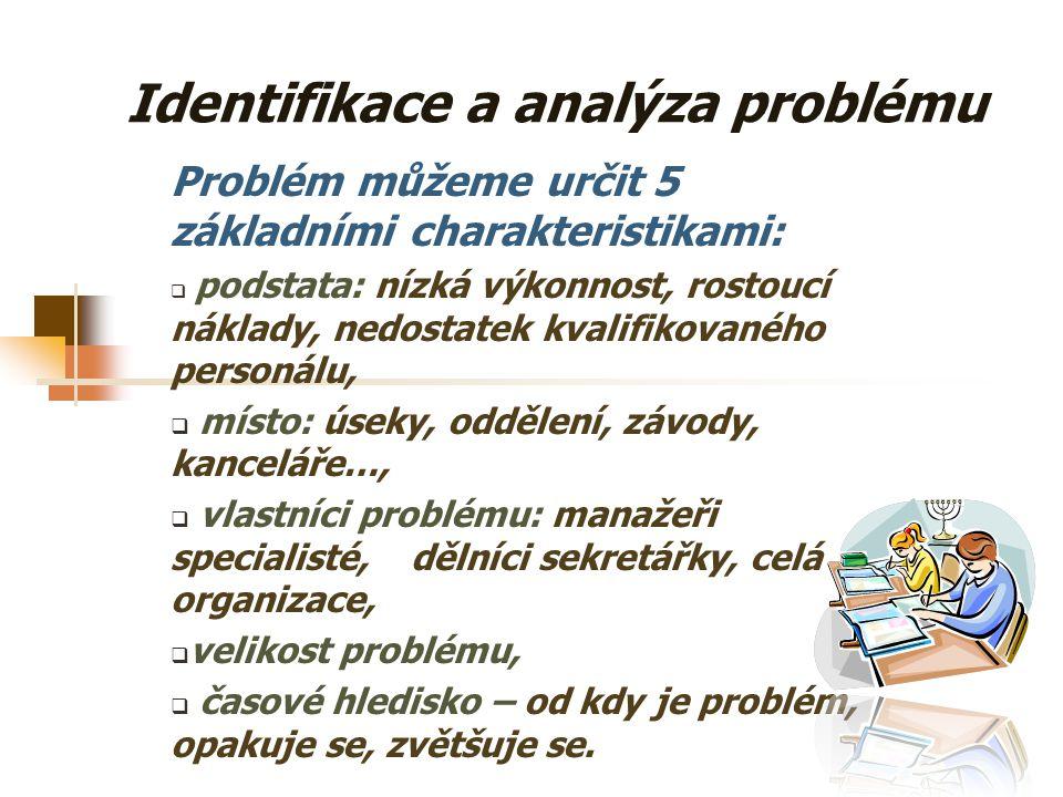 Přístupy k zjišťování potřeb Nejobecnější přístupy, mezi něž patří: a) identifikace a analýza problému, b) srovnání c) stanoviska expertů.