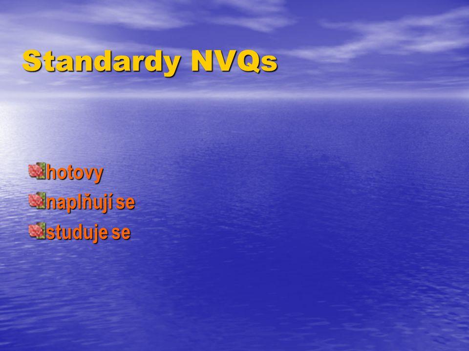 Standardy NVQs hotovy naplňují se studuje se