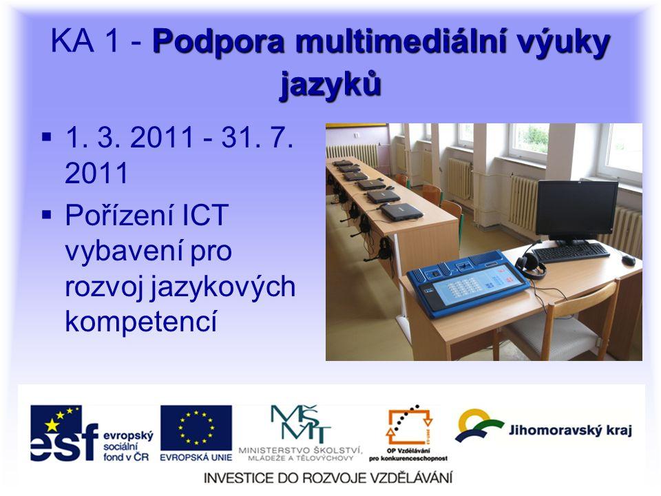 Podpora multimediální výuky jazyků KA 1 - Podpora multimediální výuky jazyků  1.