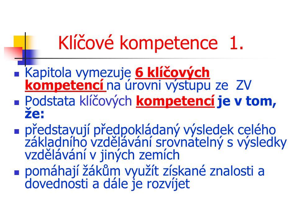 Klíčové kompetence 1.