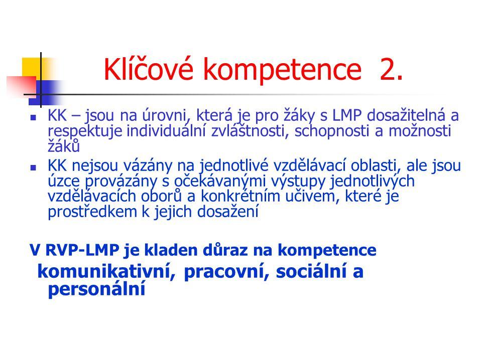 Klíčové kompetence 2.