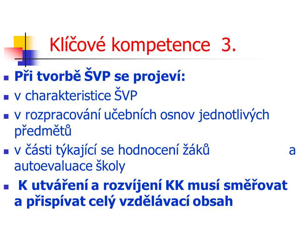 Klíčové kompetence 3.