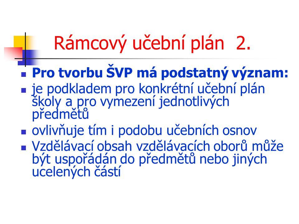 Rámcový učební plán 2.