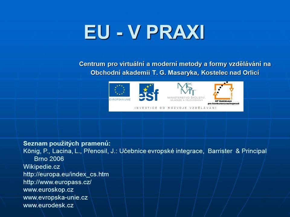 EU - V PRAXI Centrum pro virtuální a moderní metody a formy vzdělávání na Obchodní akademii T.