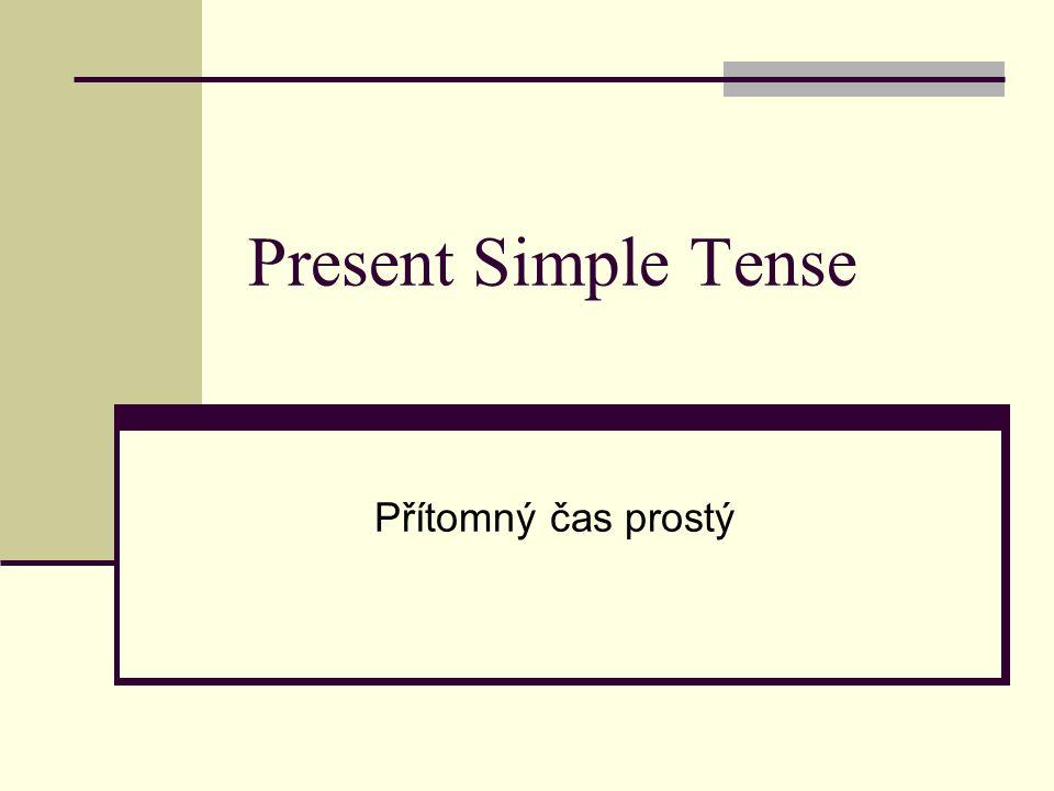 Present Simple Tense Přítomný čas prostý