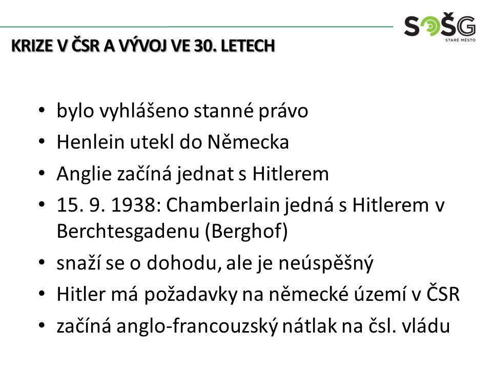 20.9. 1938: plán je odmítnut v noci na 21. 9. 1938: ultimativní nóta Benešovi 22.