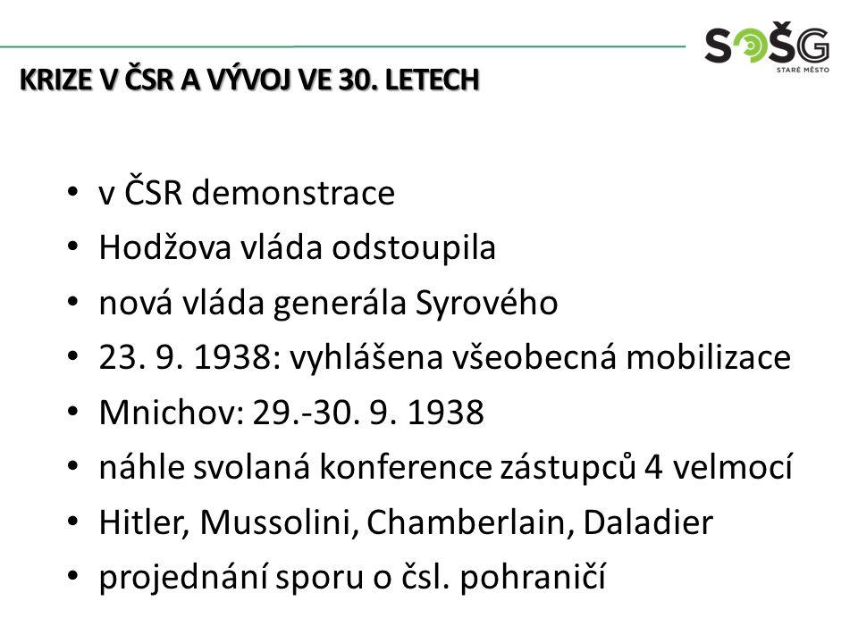 ČSR nepřizvána, opuštěna spojenci podepsána dohoda ČSR má vyklidit požadované území mimořádný tlak a časová tíseň Beneš mnichovský diktát přijal na vlastní odpovědnost bez parlamentu Proč.