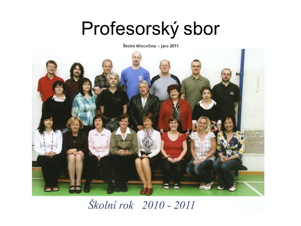 Profesorský sbor Školní tělocvična – jaro 2011
