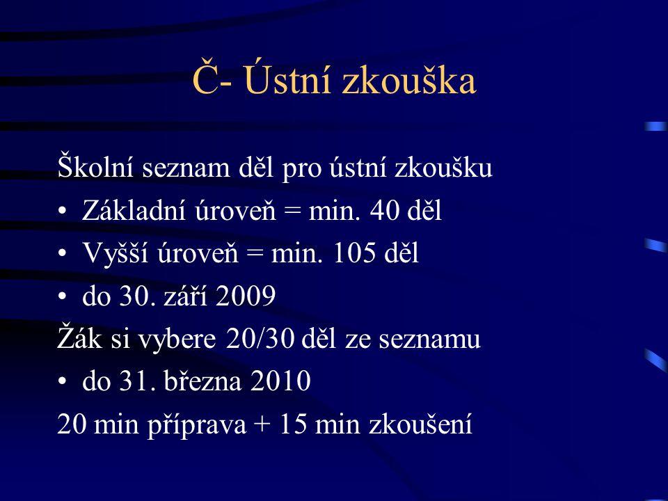 Další informace www.cermat.cz