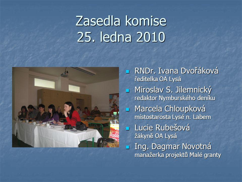 Výběrové řízení Dne 25. ledna 2010 se konalo výběrové řízení projektů Malých grantů v učebně č.