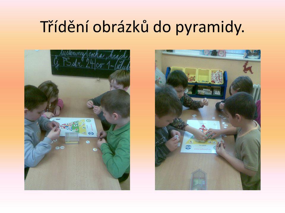 Třídění obrázků do pyramidy.