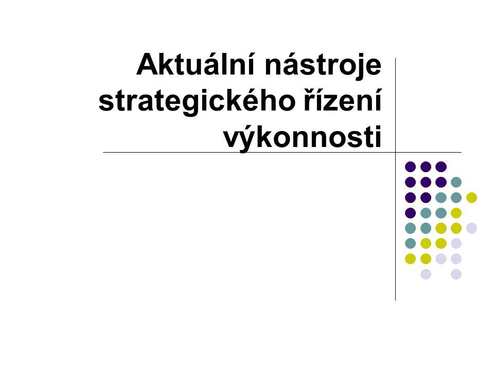 Aktuální nástroje strategického řízení výkonnosti