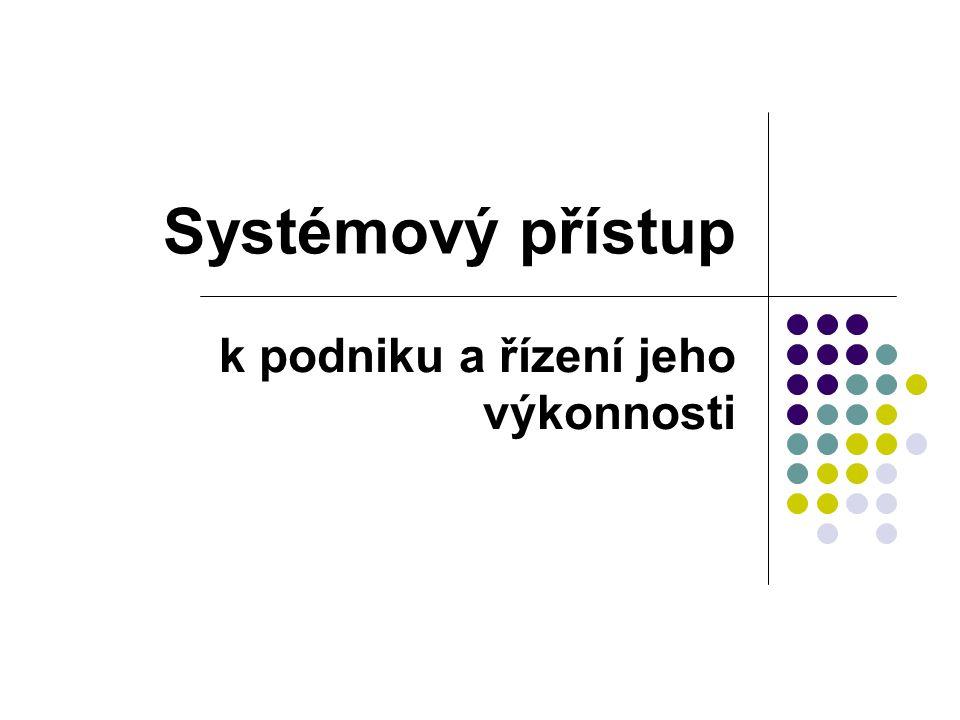 Systémový přístup k podniku a řízení jeho výkonnosti