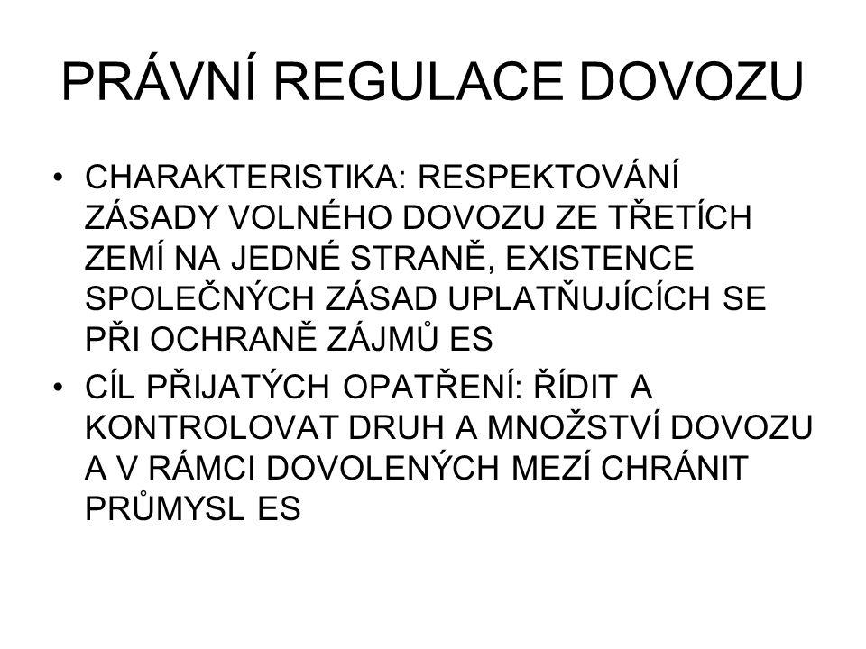 PŘEHLED NOREM 1.Nařízení Rady (ES) č.