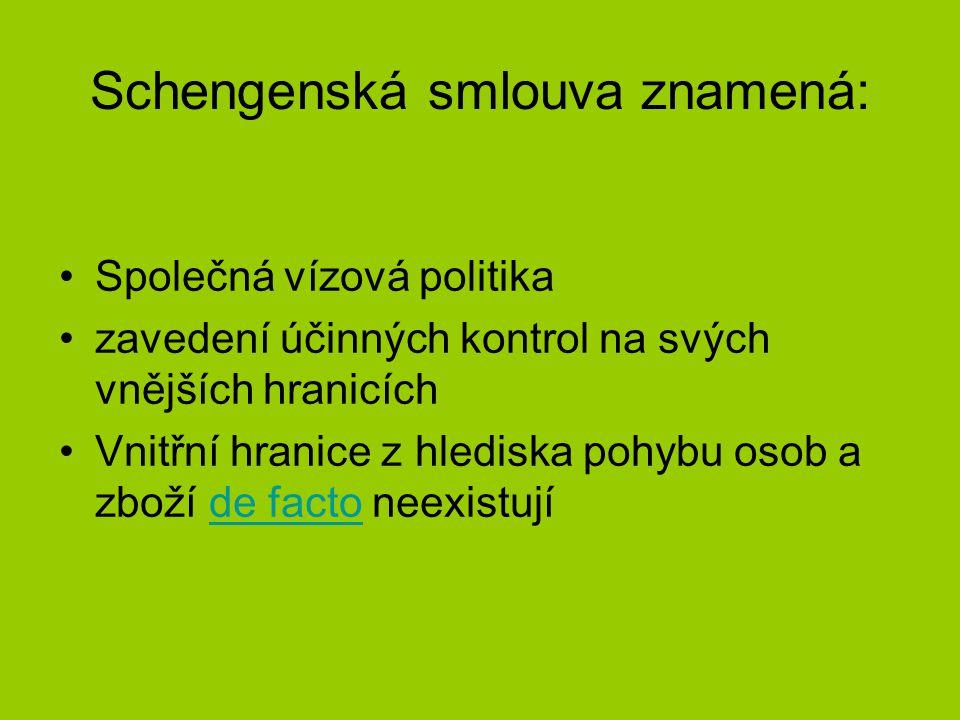 Země Schengenské úmluvy