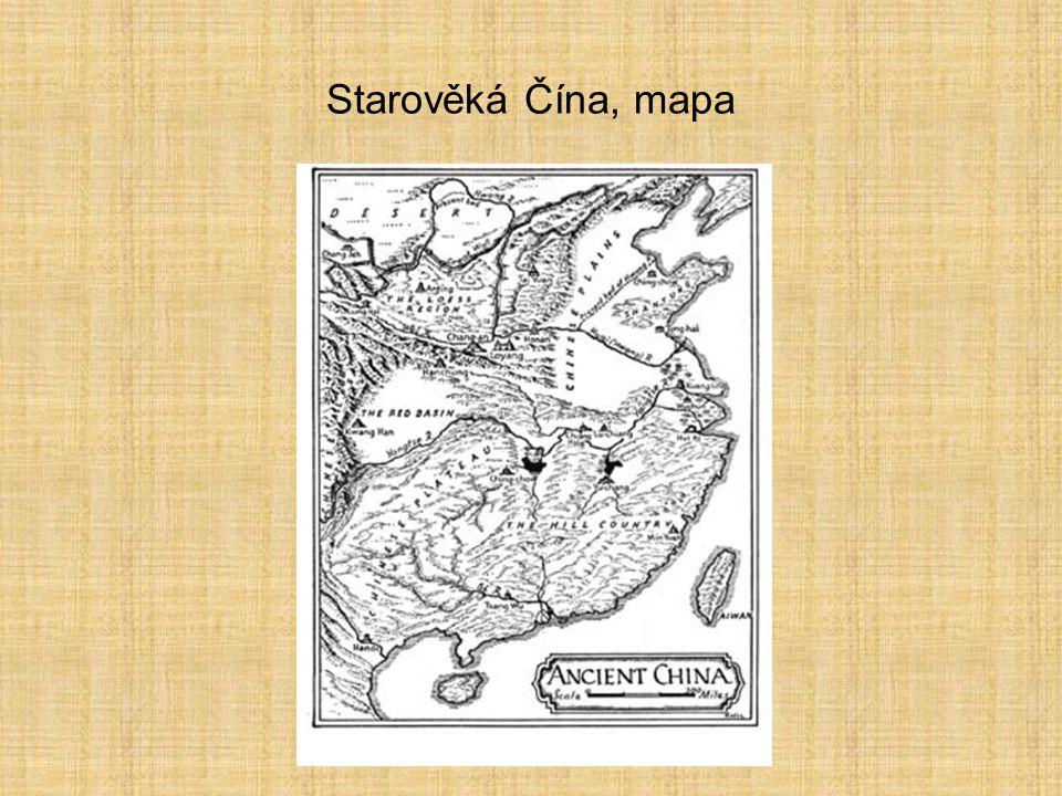 Starověká Čína, mapa