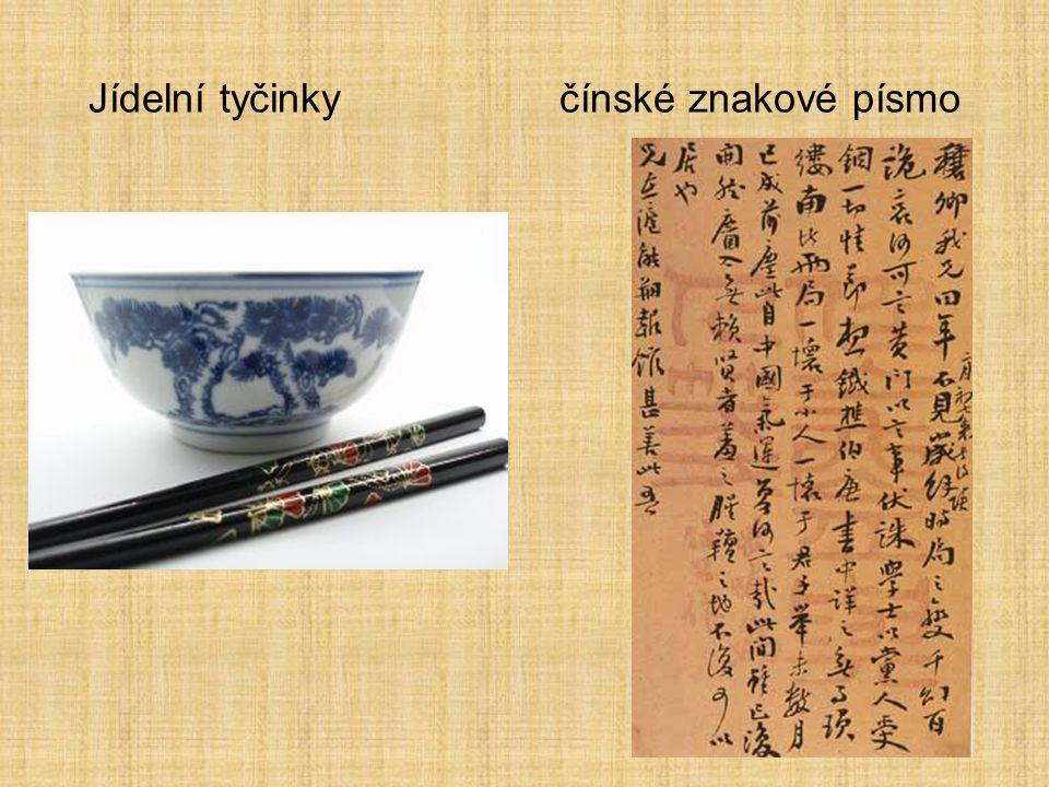 Jídelní tyčinky čínské znakové písmo