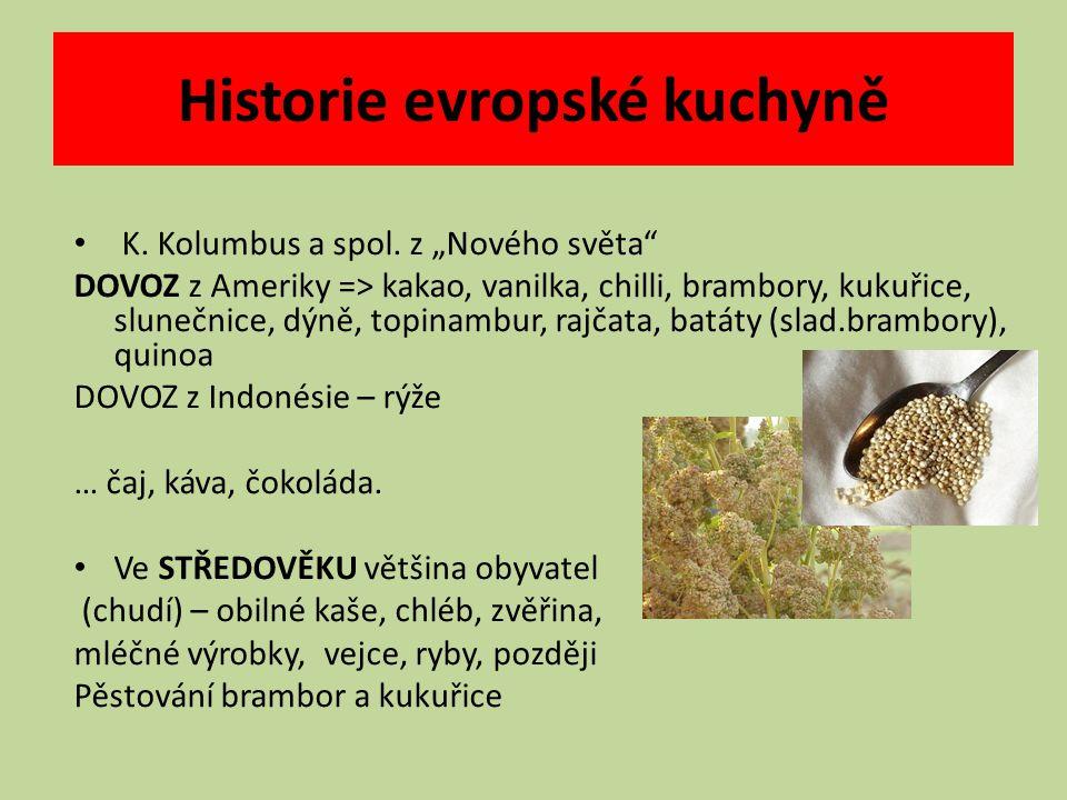 Historie evropské kuchyně K. Kolumbus a spol.