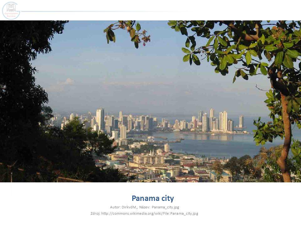 Panama city Autor: DirkvdM,, Název: Panama_city.jpg Zdroj: http://commons.wikimedia.org/wiki/File:Panama_city.jpg