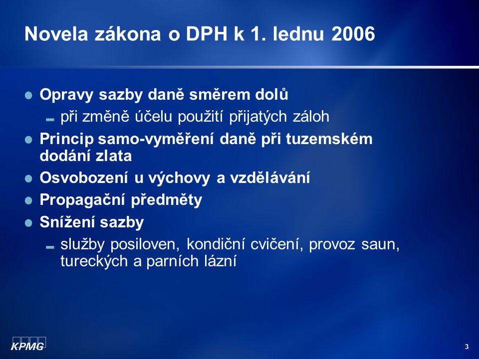 2 Novela zákona o DPH k 1.