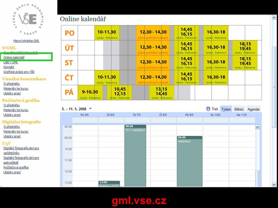 Využití učebny a GML VŠE: učebna: –všichni studenti - WF bitmap, tipy a triky s bitmapama GML: –povinně všichni studenti: »základy práce se střihovými programy »import videa a RAWů »základy ovládání kamery –volitelné pro laiky: »základy ovládání fototechniky »základy fotografování »základy počítačové grafiky –týmy povinně: »nafocení, nafilmování, tvorba grafiky zdrojových dat »vytvoření finálního výstupu GML – povinné: praxe s grafikou, tabletem (a videem) GML – volitelně: nadšenci, Ti kteří nedisponují SW, konzultace k zápočtovým cvičením Maily GML: VSE 4SA339 xxxxx / khorna@vse.cz (sestavit co nejdříve trojice + oznámit lektorovaný výklad nebo bez lektora – v 2.t!!!)khorna@vse.cz tel GML: 224 095 870 nebo osobně 12:30-12:45 Maily zápočtová cvičení: VSE 4SA339 příjmení, (*.jpg) / gmlgraf@gmail.com, libor.krsek@vse.cz Formáty a názvy souborů: příjmeni _logo.jpg, příjmeni_monogram.jpg… gmlgraf@gmail.comlibor.krsek@vse.cz