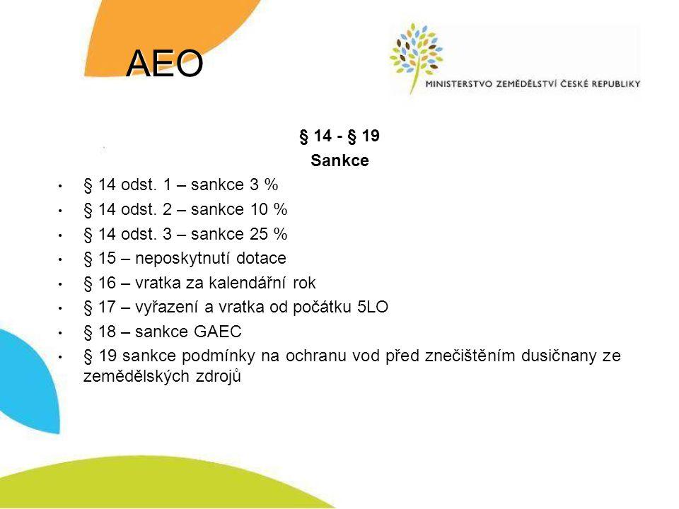 AEO § 14 - § 19 Sankce § 14 odst.1 – sankce 3 % § 14 odst.
