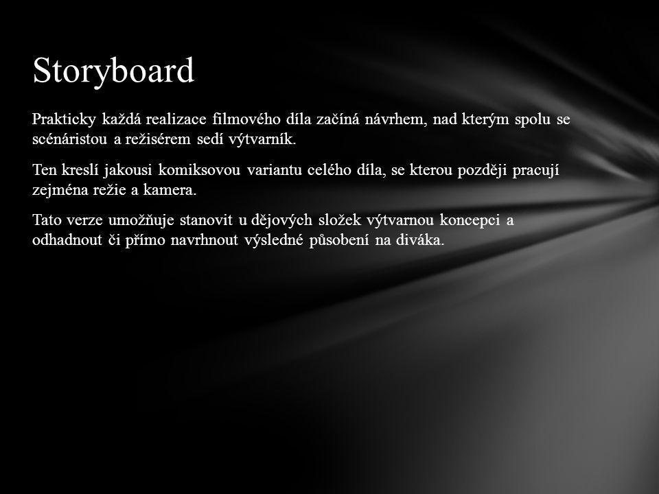 Pokud chceme vytvořit storyboard, musíme napřed Celtxu oznámit, že se storyboardem budeme pracovat.