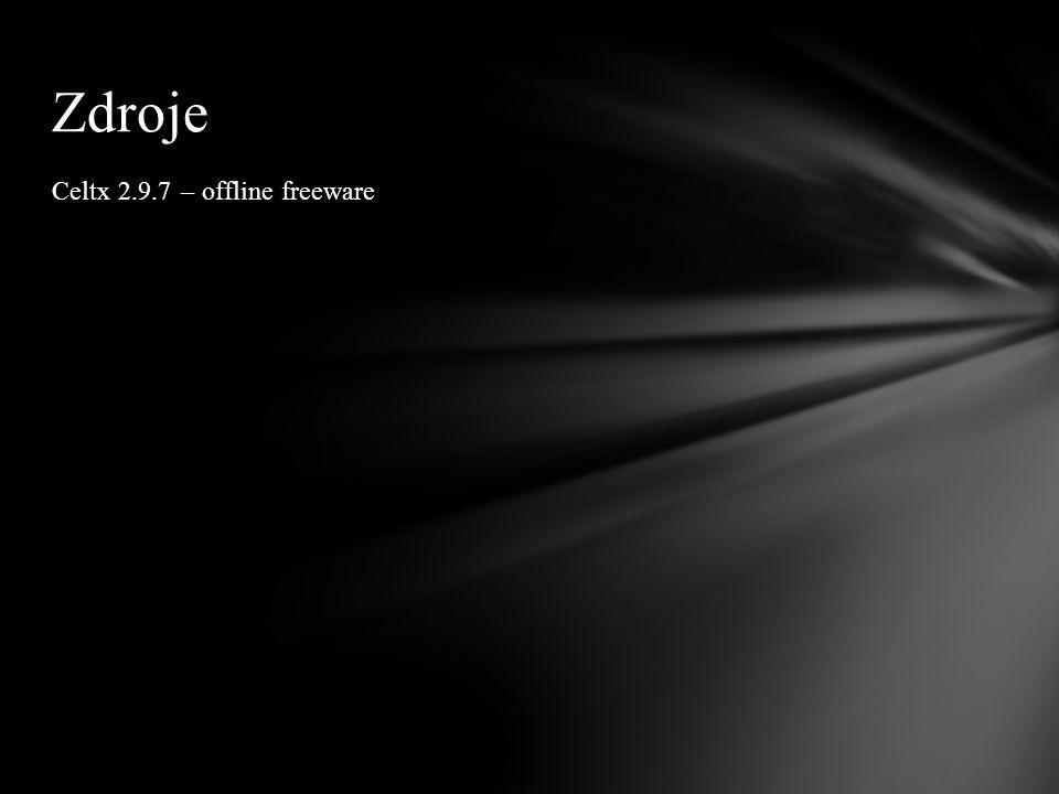 Celtx 2.9.7 – offline freeware Zdroje