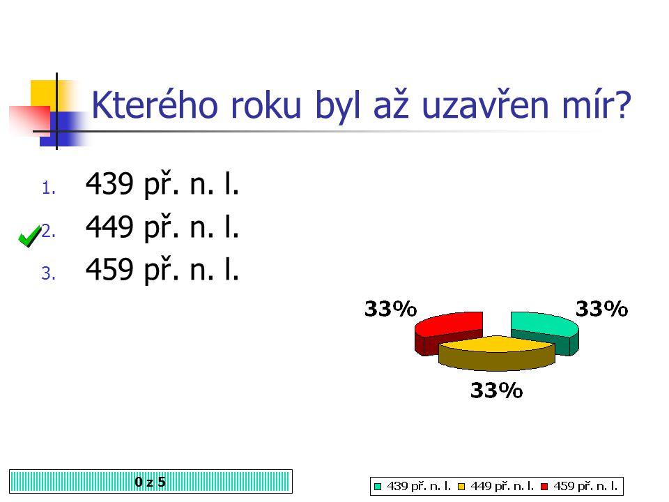Kdo byl vítězem řecko-perských válek? 0 z 5 1. Persie 2. Makedonie 3. Řecko