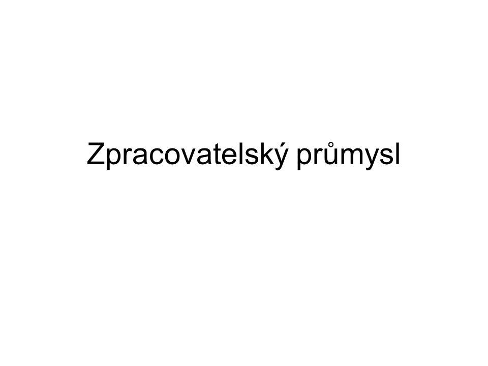 Sklářský a keramický Výroba technického i užitkového skla, porcelánu, skelných vláken a užitné keramiky Podíl cca 2% Tradiční české odvětví