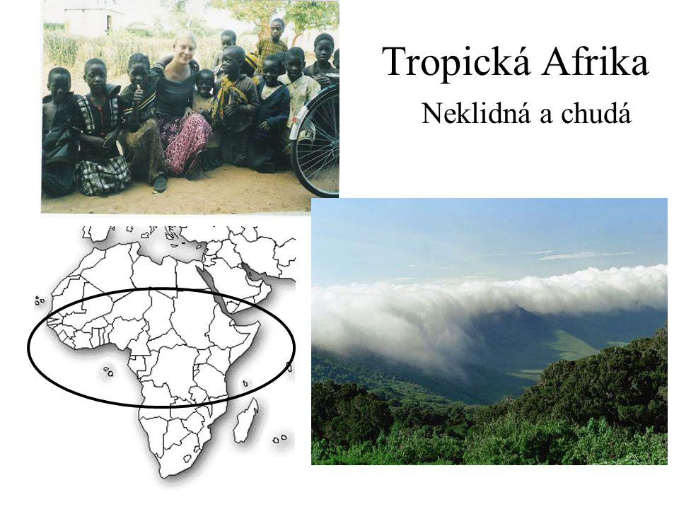 I.Přírodní poměry Doplňte názvy patřící do tropické Afriky: 1.Vysočina na rovníku.