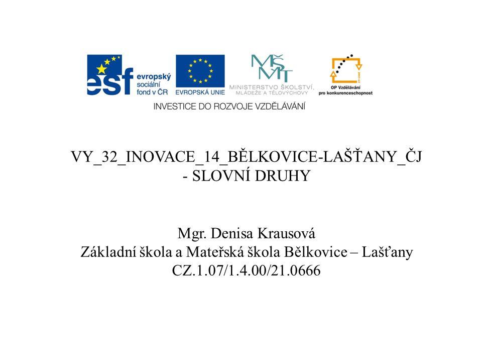 VY_32_INOVACE_14_BĚLKOVICE-LAŠŤANY_ČJ - SLOVNÍ DRUHY Mgr.