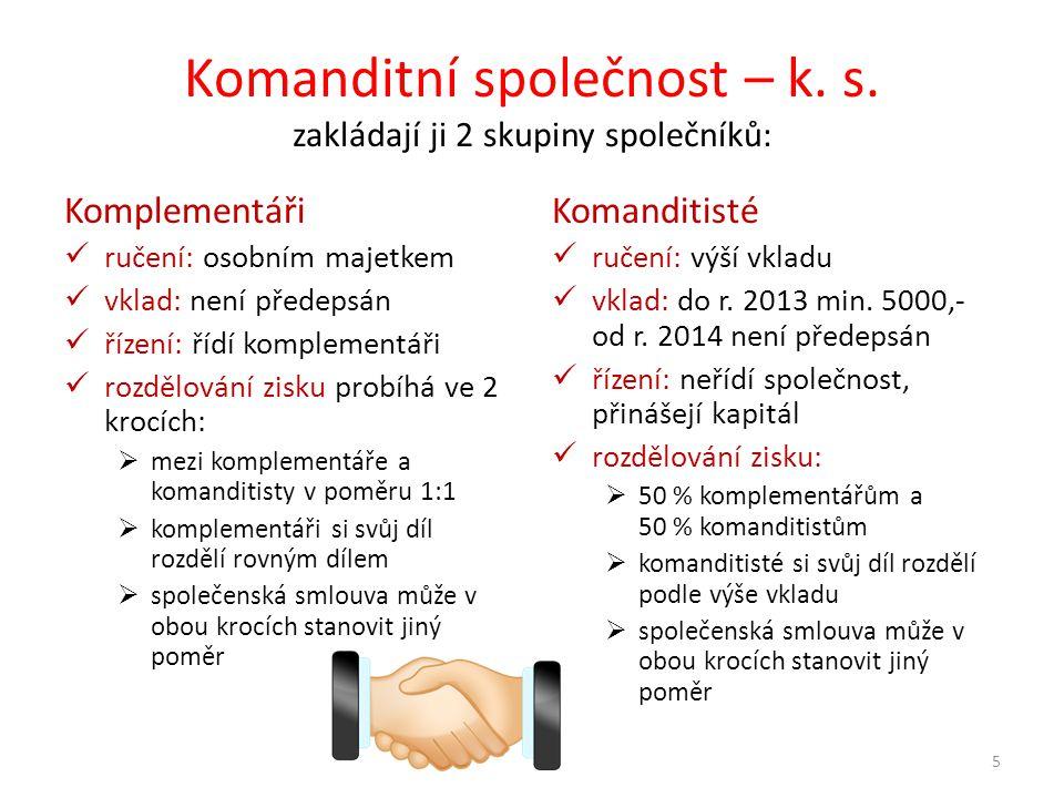 Komanditní společnost – k. s.
