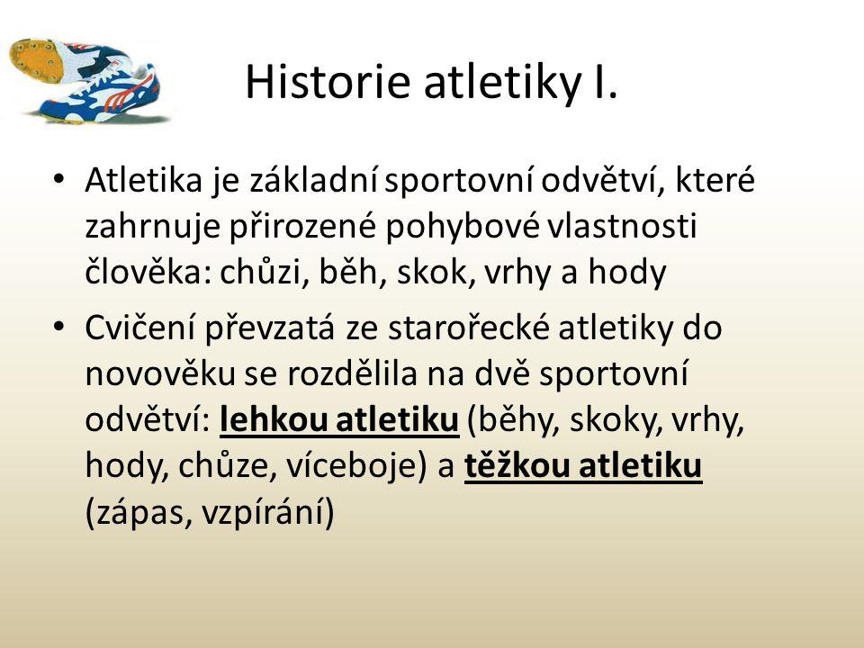 Historie atletiky II.