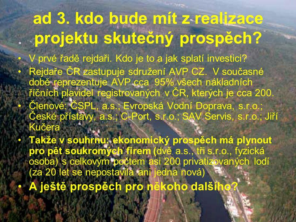 ad 3. kdo bude mít z realizace projektu skutečný prospěch.