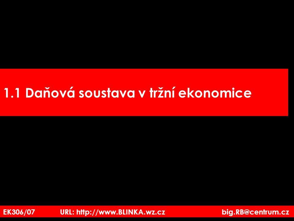 EK306/07 URL: http://www.BLINKA.wz.cz big.RB@centrum.cz 1.1 Daňová soustava v tržní ekonomice