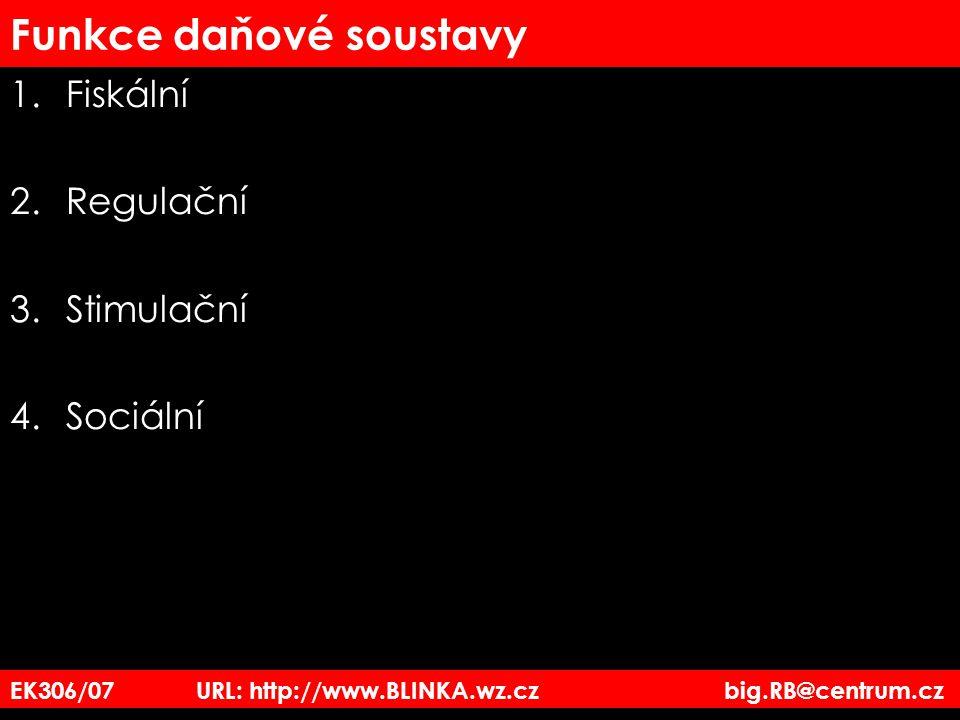 EK306/07 URL: http://www.BLINKA.wz.cz big.RB@centrum.cz Sazby DPH základní sazba – 19% –zboží –služby –vše, co není uvedeno ve snížené sazbě.