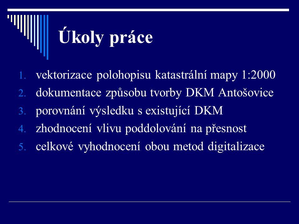 Výsledky porovnání výměr  počet porovnávaných parcel – 318  překročení mezní hodnoty: - původní KM a DKM 23,5% parcel - původní KM a KM-D 13,8% parcel KMDKMKM-D Počet parcel celkem352361353 Rozloha celkem (ha)37,058937,057137,0658