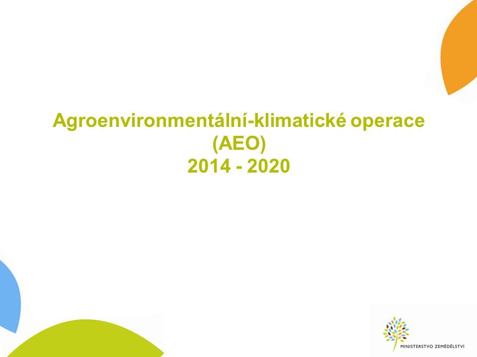 Agroenvironmentální-klimatické operace (AEO) 2014 - 2020