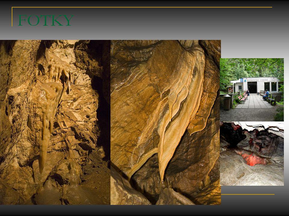 Půdorysný plánek jeskyní 1.Objevný vchod v opuštěném lomu 2.