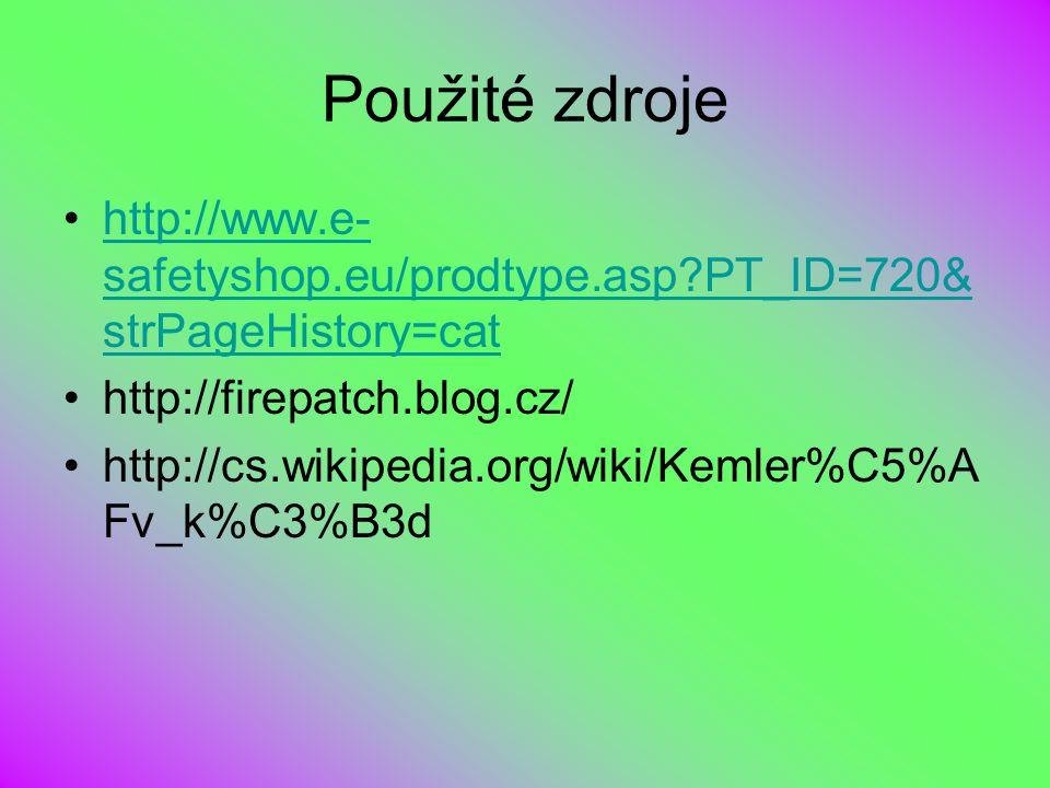 Použité zdroje http://www.e- safetyshop.eu/prodtype.asp?PT_ID=720& strPageHistory=cathttp://www.e- safetyshop.eu/prodtype.asp?PT_ID=720& strPageHistor