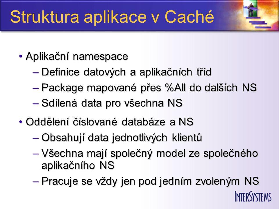 Uživatelské prostředí Původní a udržovaný klient ve VB 6.0Původní a udržovaný klient ve VB 6.0 Vnořené ZEN formuláře a tabulkyVnořené ZEN formuláře a tabulky –nová funkcionalita –zákaznické úpravy –použit jednoduchý WebBrowser Samostatná ZEN aplikaceSamostatná ZEN aplikace –nové prvky Caché 2010 –ve vývoji