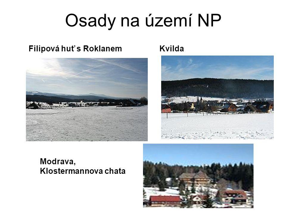 Osady na území NP Filipová huť s RoklanemKvilda Modrava, Klostermannova chata