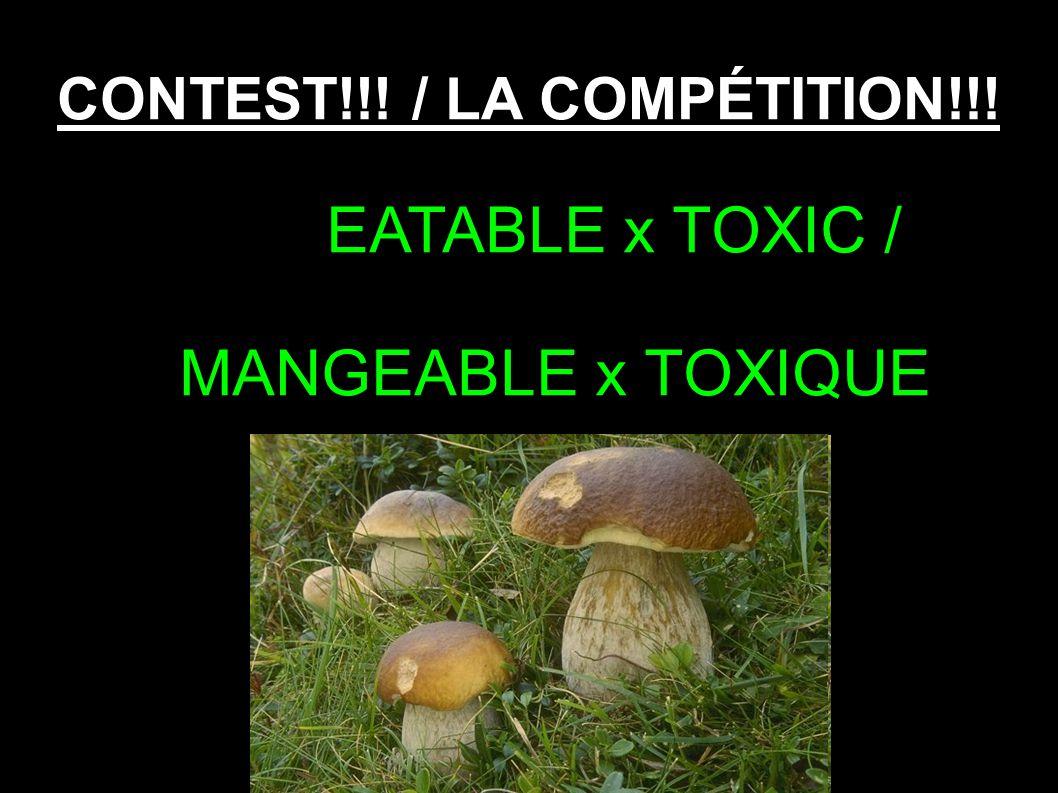 CONTEST!!! / LA COMPÉTITION!!! EATABLE x TOXIC / MANGEABLE x TOXIQUE