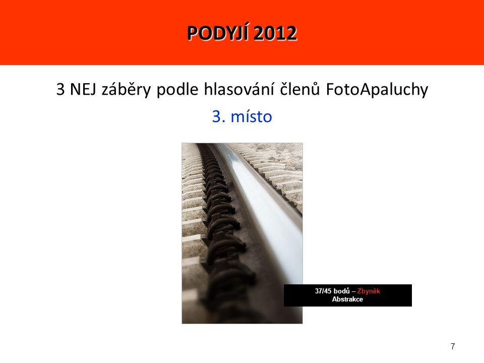 28 5 NEJ fotek (celkově): 1.-2.místo - 574 bodů – Jirka Makro PODYJÍ 2012 1.-2.