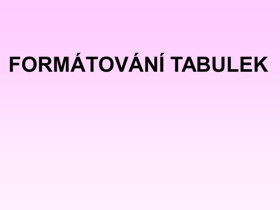 Nově vložené dva sloupce vlevo Chcete-li vložit více sloupců nebo řádků, stačí označit stejný počet sloupců nebo řádků v původní tabulce Původní tabulka Označené dva sloupce v tabulce